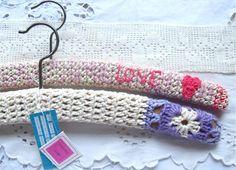 crochet coat hangers.. love