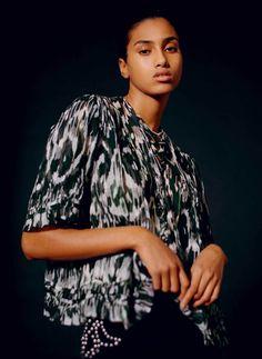 Imaan Hammam wears all clothing Isabel Marant.
