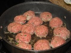 Italian Meatballs: This is how to make real Italian meatballs based on a recipe from a real Italian grandmother.