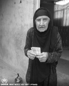 """When Fatemeh from Afghanistan the most important thing she brought with her was money.""""I will take my money with me. Money is the only thing that will help me survive for a while"""".   -  Fatemeh from Iran    - Visit 1family: http://www.unhcr.org/1family"""