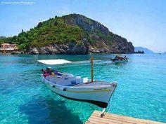 Corfu Adası Yunanistan 'mış