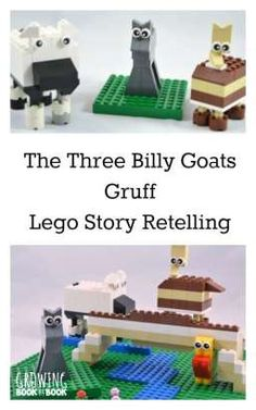 Retelling stories builds comprehension.  This Lego activity for the Three Billy Goats Gruff from growingbookbybook.com is a fun learning activity for the kids!