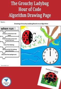 This offline coding activity invites children to explore coding and create an illustration based on the book The Grouchy Ladybug. It is a wonderful offline Hour of Code activity. You will find a number of coding and algorithm activities on Mom. Printable Activities For Kids, Hands On Activities, Science Activities, Number Activities, Steam Activities, Educational Activities, Preschool Activities, Early Learning, Kids Learning