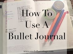 bullet journal concept used inside a planner...
