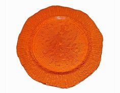 Party Rental Products Eternity Orange Charger 12 inch  Chargers