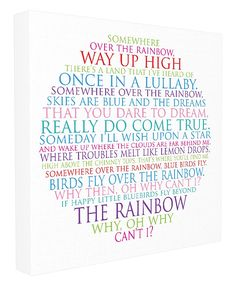 Stupell Home Décor Somewhere Over The Rainbow Circle Typog Stretched Canvas Wall Art, 17 x 1.5 x 17, Proudly Made in USA -- You can get additional details at the image link. (This is an affiliate link and I receive a commission for the sales)