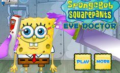 لعبة سبونج بوب عند دكتور العيون العاب فلاش ميزو Spongebob Squarepants Play
