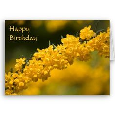 Tiny Yellow Flowers Birthday Card $3.35
