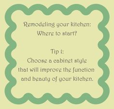 From the #Wedgewood blog: Tips on how to start a #kitchen #remodel