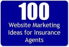 100 Insurance Website Marketing Ideas for Insurance Agents