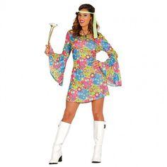 Disfraz de Hippie Flores para mujer #disfraces #carnaval #novedades2017