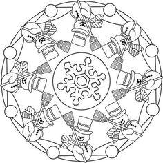 Winter Mandala Coloring Pages Mandala Coloring Pages