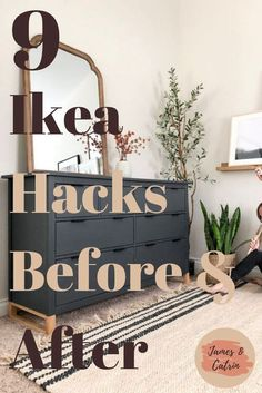 home decor ikea See some amazing transformations with these Ikea hacks. From bare Ikea products to stylish pieces of furniture with some creative ideas. These Ikea hacks will blow you away! Hacks Ikea, Ikea Furniture Hacks, Furniture Projects, Home Projects, Furniture Storage, Ikea Kitchen Organization, Dresser Furniture, Small Space Organization, City Furniture