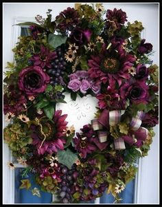 """Shades of Purple"" Luxury Floral Wreath - Petal Pusher's"