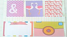 Faça download de vários cards fofos no blog e enfeite o álbum de scrapbook ou o seu planner. Freebie!