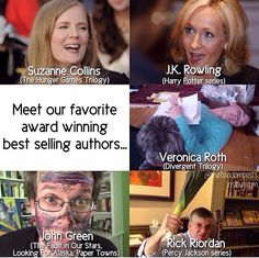We have our female authors which are usually composed and polite and smart and just awesome and then we have our male authors....who are also awesome but I think there might be something wrong with them