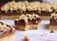 Peanut Butter & Jelly Shortbread Bars