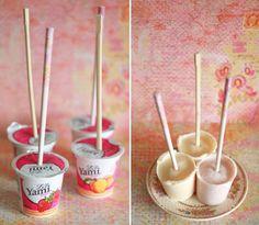 frozen yogurt pops, done