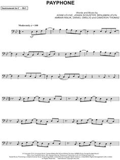 cello sheet music for popular songs - Google Search