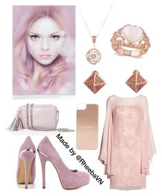 """""""Inspired by 'Soft Curls and Long Lashes' by Bec Winnel"""" by rheebavn ❤ liked on Polyvore featuring LACAMBRA, Mikael Aghal, Allurez, ShoeMint, Pink Mascara, Kate Spade, pastel and BecWinnel"""