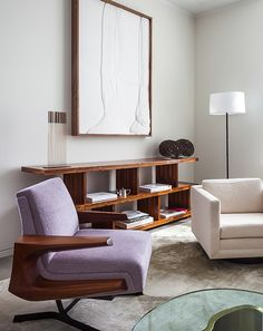 Upper East Side apartment interior by Rees Roberts + Partners, including Sonambient and Bush-form sculptures by Harry Bertoia, c.1960s. / Rees Roberts