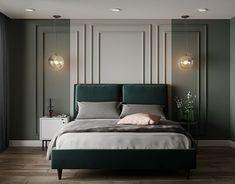 Restaurant on Behance Master Bedroom Interior, Room Design Bedroom, Home Decor Bedroom, Modern Bedroom, Bedroom Wall, Stylish Bedroom, Suites, Luxury Interior Design, Luxurious Bedrooms