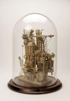 Les superbes sculptures en carton de l'artisteDaniel Agdad, qui a imaginé des créations fines et délicates, entre machines volantes improbables et construc