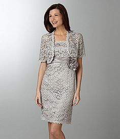 R & M Richards Lace Jacket Dress | Dillards.com