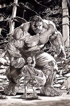 The Hulk by Lee Bermejo Loving the Betty tattoo on his arm.