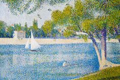 Pointillism by Seurat. Pointillism is a technique of painting in which small, distinct dots of pure color are applied in patterns to form an image. Georges Seurat and Paul Signac developed the technique in branching from Impressionism. Georges Seurat, Painting Edges, Painting Prints, Art Prints, Painting Styles, Père Lachaise Cemetery, Seurat Paintings, Georgia O'keeffe, Museum Of Fine Arts