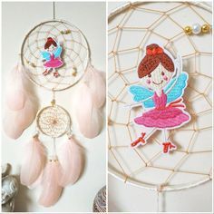 Fairy girls pink dream catcher, blush pink dreamcatcher girls room decor Made with attention and love this dream catcher brings its owners good dreams and positive energy. This beautiful dream catcher is the perfect eye-catching piece you need for your home. It also makes an amazing housewarming or birthday gift for loved ones. Fairy Baby Showers, Fairy Nursery, Dream Catcher Decor, Beautiful Dream Catchers, Perfect Eyes, Pink Feathers, Hand Wrap, Girls Dream, Wooden Beads