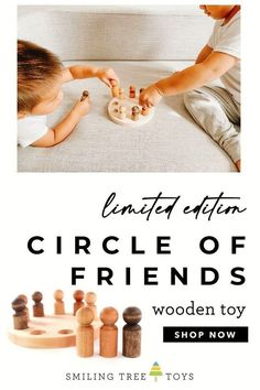 Classic peg toys in varying shades of natural wood tones to inspire diversity and inclusivity. Love All. It's as beautifully simple as that. 🖤 Wooden Toy Shop, Racial Diversity, Circle Of Friends, Natural Parenting, Childrens Gifts, Parent Resources, Toys Shop, Raising Kids, Trees To Plant
