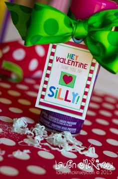 Give silly string this Valentine's day as a fun classroom gift!
