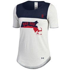 Under Armour Boston Red Sox Women's White/Navy Shirzee T-Shirt