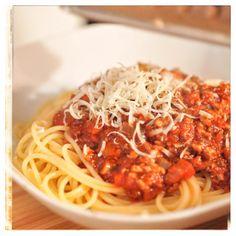 Barsista: Spaghetti mit Tofubolognese