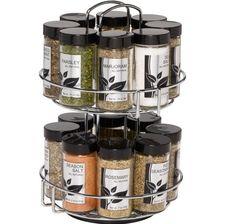Spice Rack Kitchen Storage Organizer Jars Caps Herbs Spices Cabinet Cooking New #Kamenstein