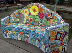 Beautiful park bench in Seattle, WA.