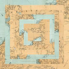 """""""Maps"""", collages by Luis Dourado"""