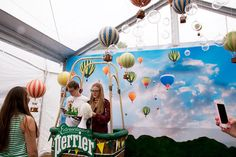 House of Extraordinaire by Perrier: A photo station imagined guests in a high-flying hot-air balloon.