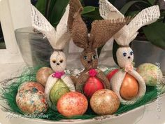 Easter bunny photo 1 Easter Bunny, Easter Eggs, Folding Napkins, Decorating Ideas, Table Decorations, Dinner Table Decorations