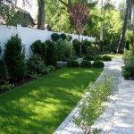 Ogród geometryczny - Tajemniczy Ogród Modern Garden Design, Sidewalk, Landscape, Gardens, Deco, Lawn And Garden, Scenery, Side Walkway, Walkway