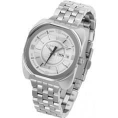 c3844ebc5d0 Diesel DZ5121 Analogue Silver Stainless Steel Bracelet Watch. Polished  Stainless steel square case and Bracelet Precise Quartz Analog movement  White outer ...