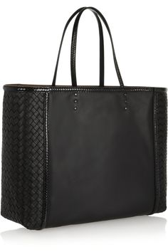 Bottega Veneta | Shopping ayers-trimmed leather tote | NET-A-PORTER.COM