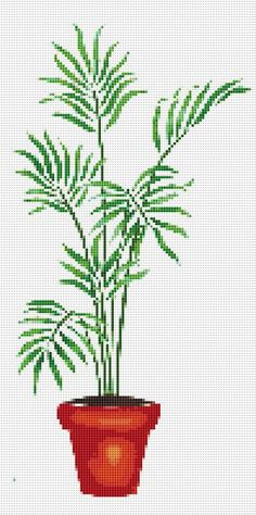 Potted Palm Counted Cross Stitch Pattern Chart    DOWNLOAD PDF PATTERN ONLY!       Fabric: 14 count Aida   Counted Cross Stitch   Stitches: 99 x 199   Size: 7.07 x 14.21 inches or 17.96 x 36.10 cm   Colours: DMC   Count:63   Stencil      XSTCH-00297        You will receive this pattern as a digital download and will need Adobe Acrobat to view it. Adobe Acrobat Reader can be downloaded at www.adobe.com.    All patterns are computer generated and you are receiving the pattern only. You are not…