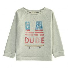 Sweat LA Dude Gris chiné Hundred Pieces