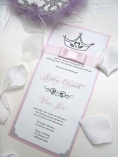 invitacion de princesa con corona
