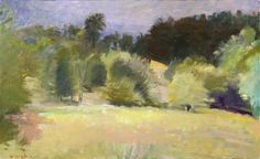 """""""Apple Orchard in Disuse,"""" Wolf Kahn, 1990, oil on canvas, collection of the artist."""