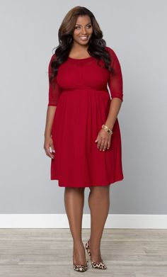 Morgan Mesh Dress in Cherry Bomb   www.curvaliciousclothes.com TAKE 15% OFF Use code: TAKE15 at checkout