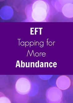 EFT Tapping for more abundance: EFT (Emotional Freedom Techniques) is a wonderful way to release limiting money beliefs and negative emotions attached to attracting more abundance. Click through for full EFT script. Eft Tapping, Reiki, Eft Technique, The Tapping Solution, Anxiety Therapy, Eft Therapy, Massage Therapy, Self Help, Helping People