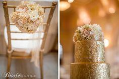 Gold Wedding Cake  -Brio Art Photography